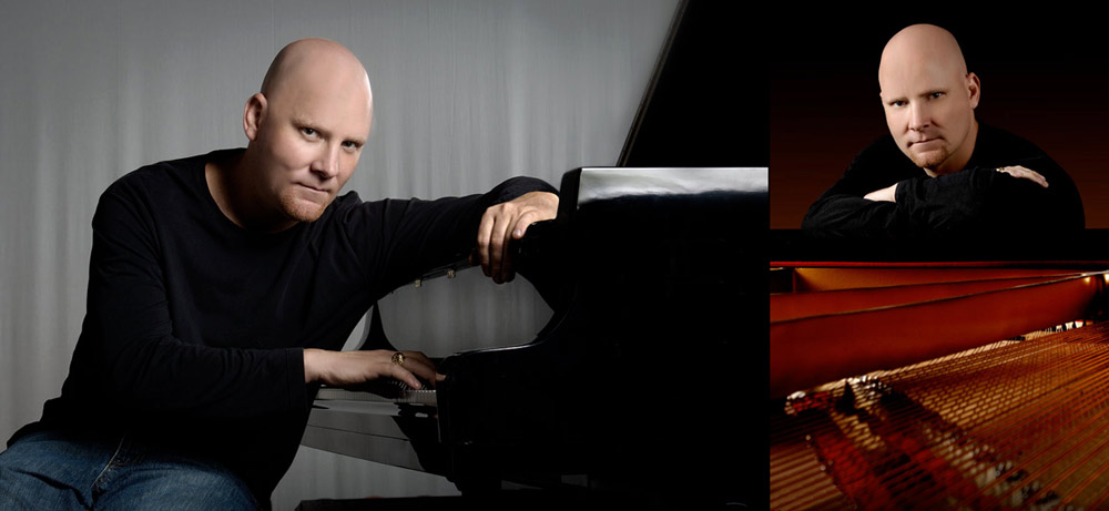 Pianist musician and Band promotional photography by Austin Photographer Doug Heslep