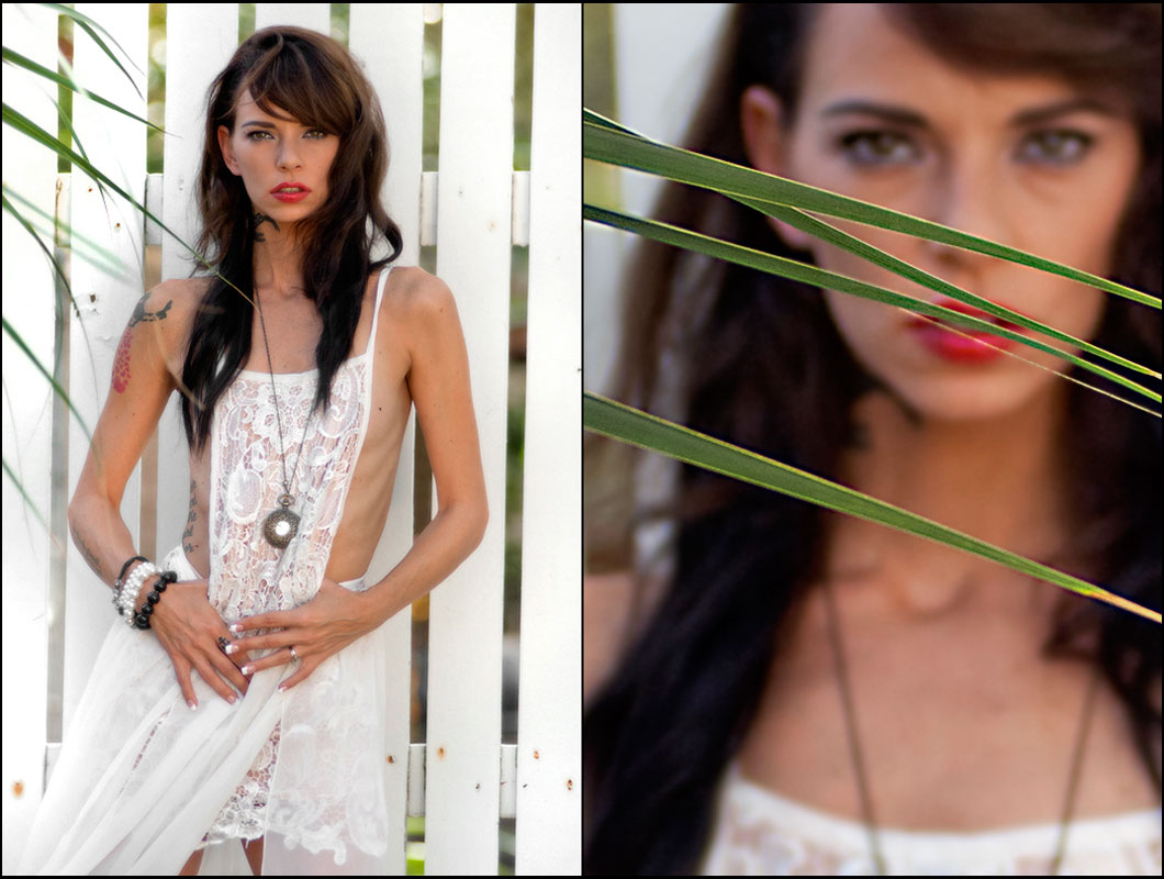 editorial photography of female model wearing white dress by doug heslep photography