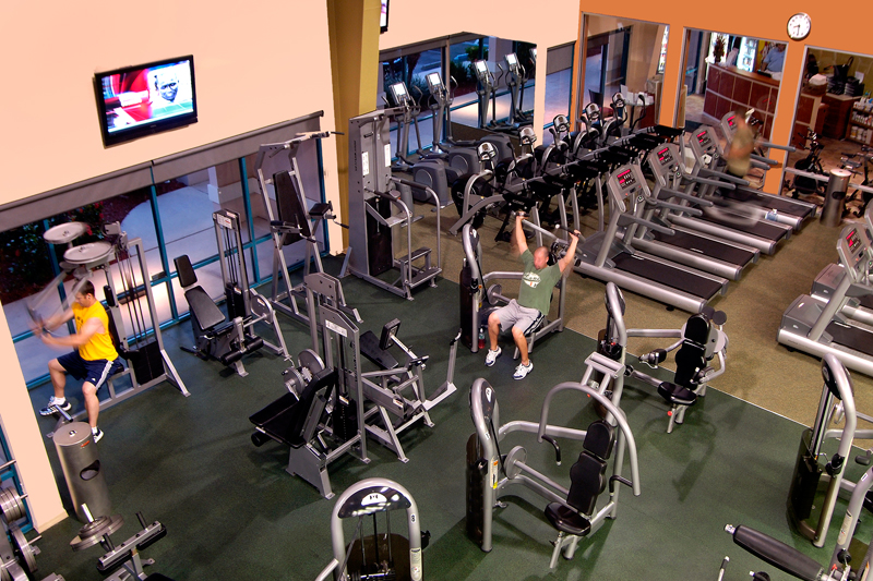 Athletic Gym Commercial Architectural Photography in Austin by Doug Heslep Photography