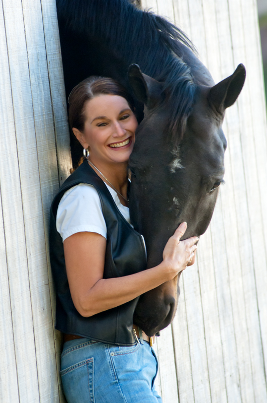 Corporate Portraiture of CEO with horse in Austin by Doug Heslep Photography