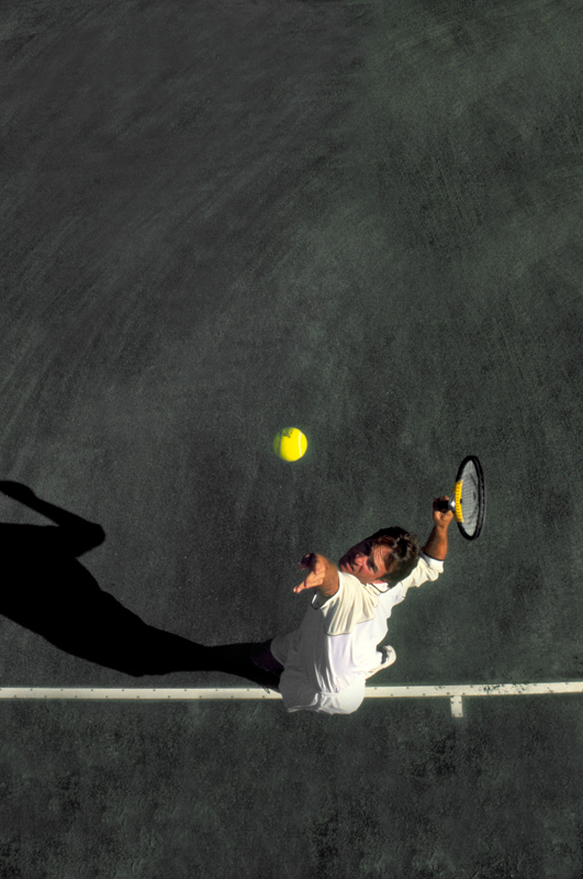 model playing tennis photography in austin by doug heslep photography